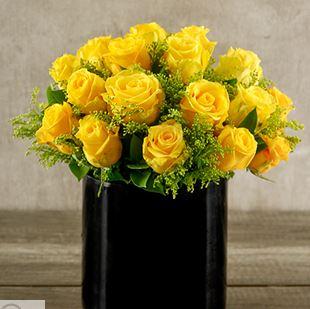 Arreglo Floral De Rosas Amarillas Flores A Domicilio