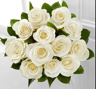 Bouquet De Rosas Blancas 24 Varas Flores A Domicilio - Imagenes-de-ramos-de-rosas-blancas