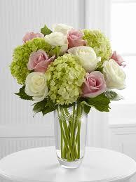 Florero Con Rosas Y Hortencias