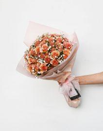 Ramo rosas damasco1