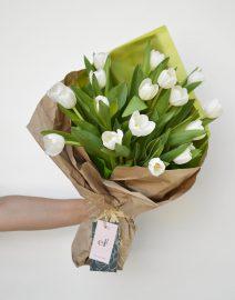 Ramo tulipanes blancos2